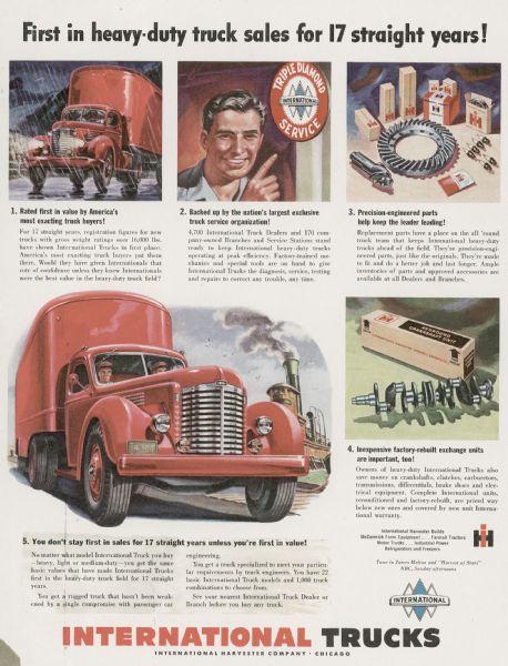 1949 International Heavy Duty Truck Advertising Proof