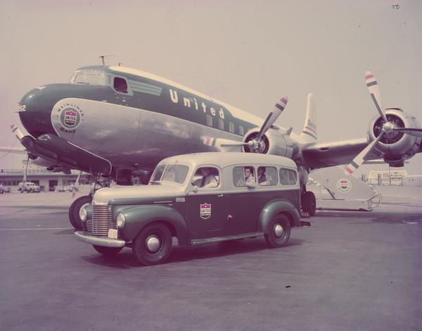 1949 International K -2 Special Coach Truck and Airplane