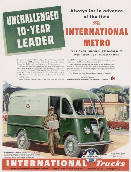 1949 International Metro Advertising Proof