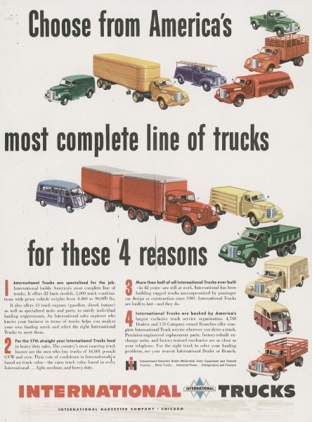 1949 International Truck Advertising Proof a