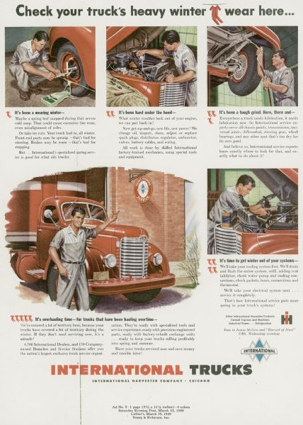 1949 International Truck Advertising Proof ad