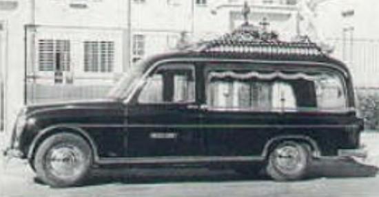 1950-60 Lancia Aurelia lijkwagen. Carrozzeria Fissore