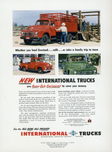 1950 International Truck Advertising Proof a