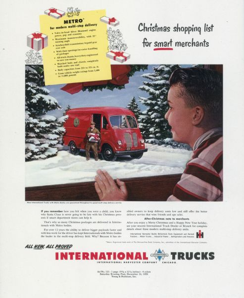1950 International Truck Advertising Proof - Metro
