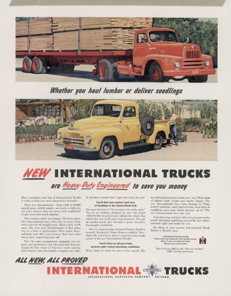 1950 International Truck Advertising Proof