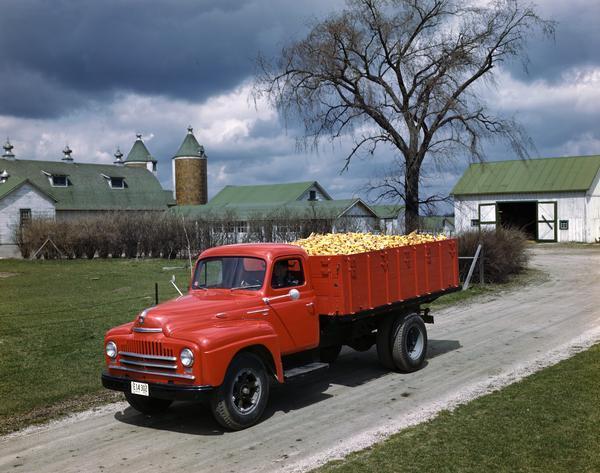 1950 International Truck Hauling Corn Cobs