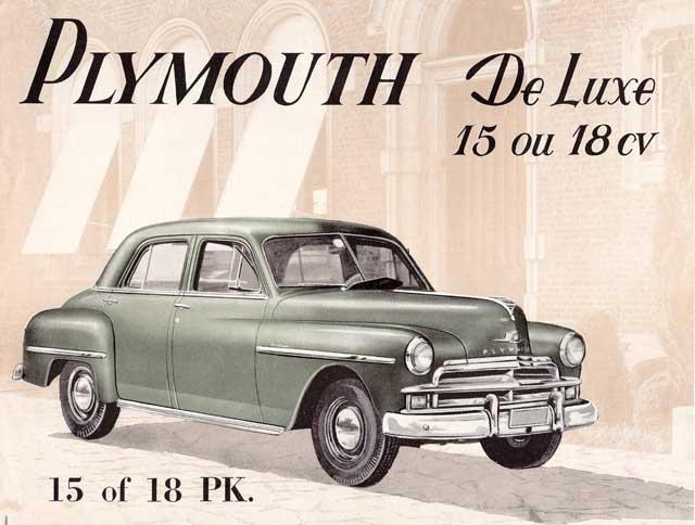 1950 plymouth de Luxe