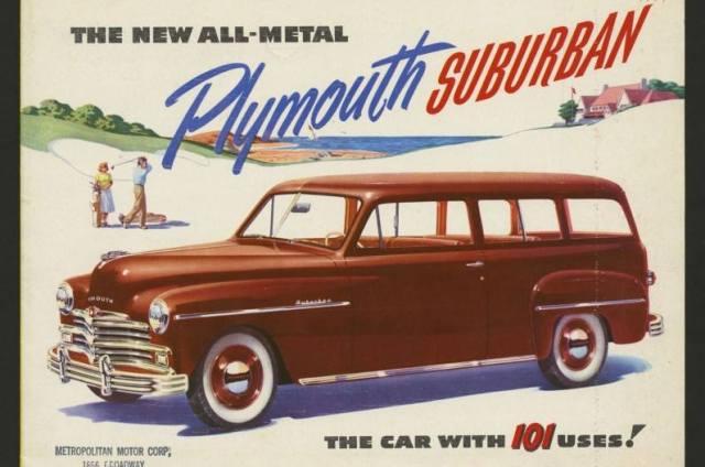 1950 Plymouth Suburban ad