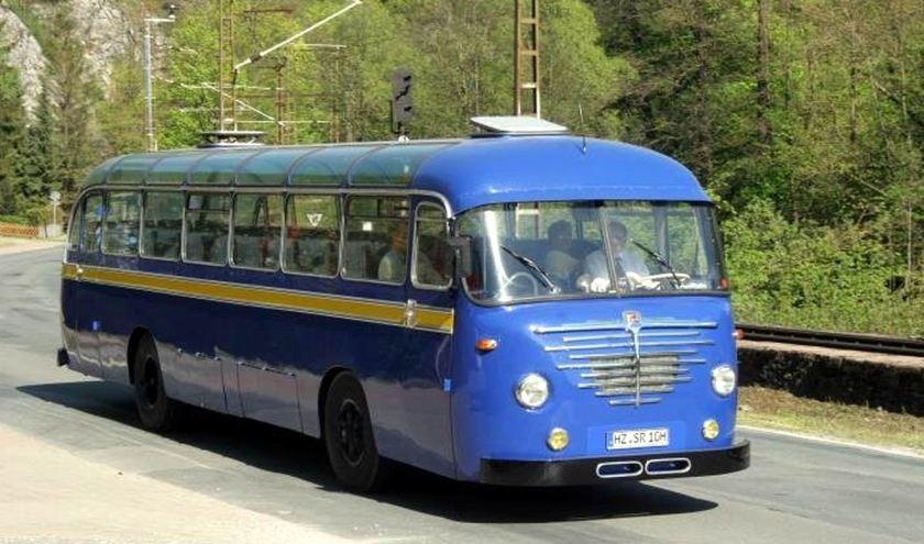 1950's Büssing Omnibus in Originallackierung der Braunschweigischen Verkehrsbetriebe in den 50er Jahren