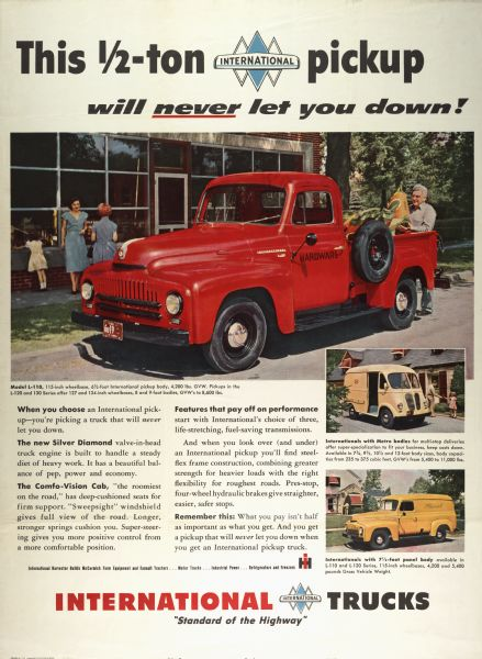 1951 International Half Ton Pickup Truck Advertising Poster