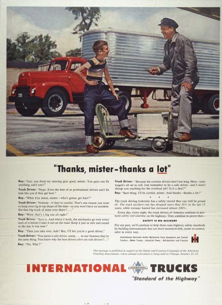 1951 International Truck Advertising Poster ad