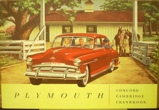 1951 Plymouth Concern Cambridge Cranbrook Dealer Sales Brochure ORIGINAL
