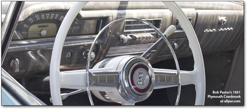 1951 Plymouth Cranbrook interior