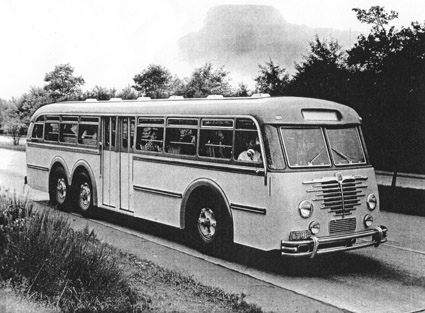 Orig Henschel HS 140 N bus construction Sammelbild 1952 Faka Omnibus