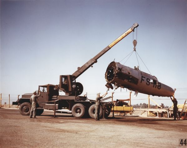1952 International M-246 Wrecker with Jet Fighter Wreckage