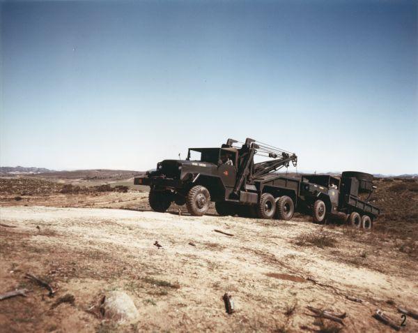1952 international M-40 Truck on Hillside