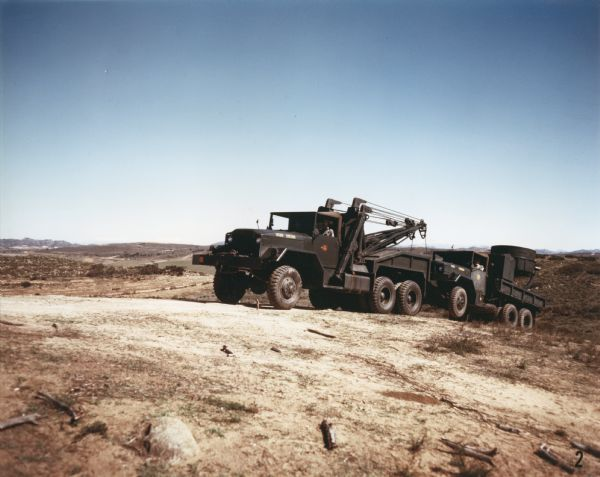 1952 international M-40 Truck on Hillside