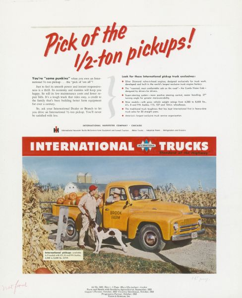 1952 International Truck Advertising Proof