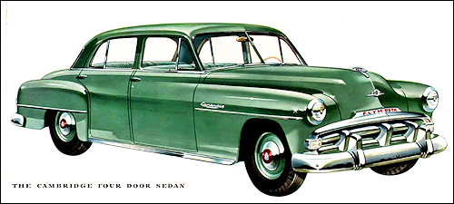 1952 plymouth cambridge 4dr sedan