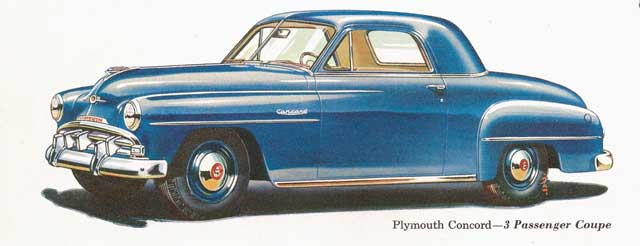 1952 plymouth concord 3p