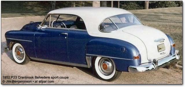 1952 Plymouth cranbrook-belvedere