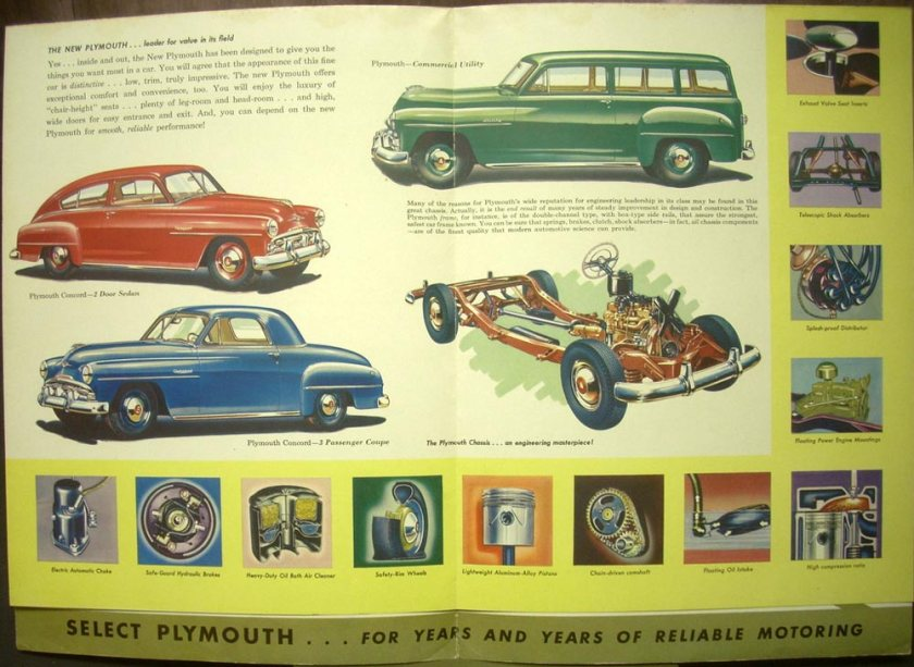 1952 Plymouth Cranbrook Cambridge Concord ORIGINAL Dealer Sales Brochure
