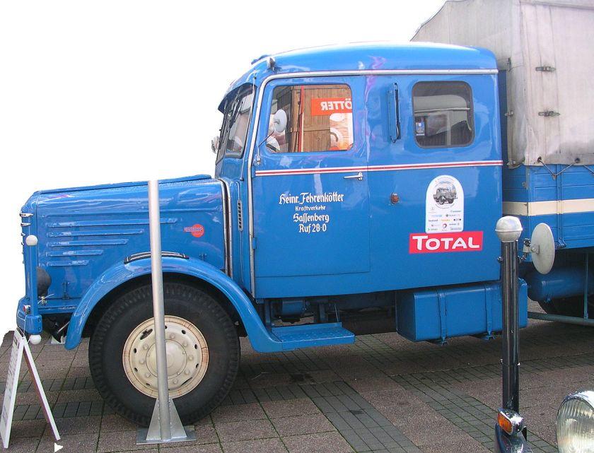 1953 Büssing 8000 Doppelkabine, 132 kW (180 PS) vmax 65 km