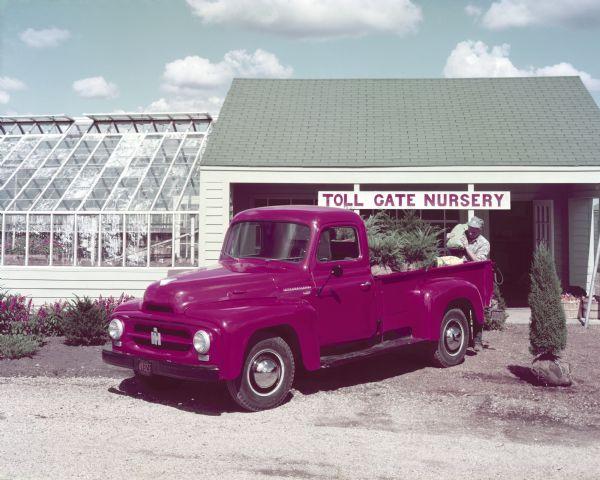 1953 International R-120 Truck at Nursery