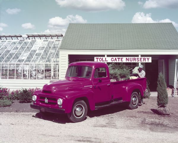 1953 International R-120 Truck at Nursery