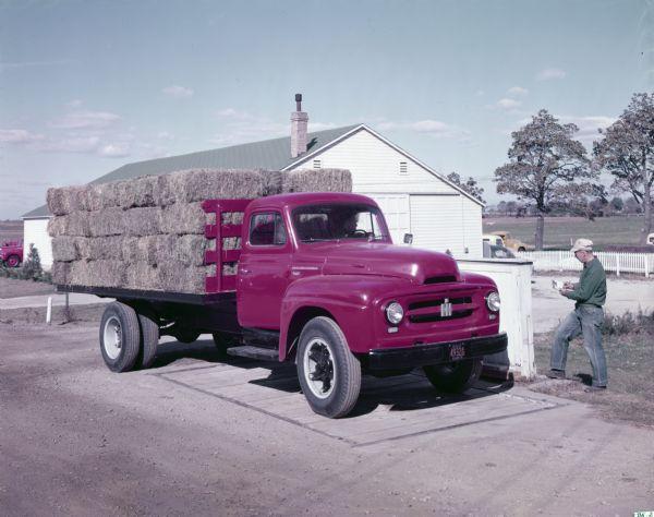 1953 International R-170 stake-body truck