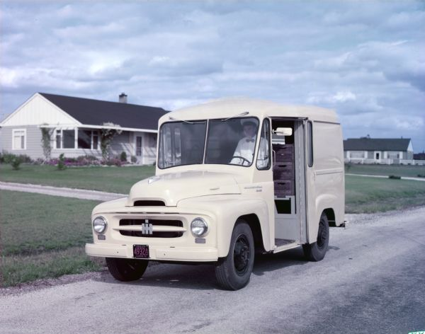 1953 International RA-140 milk delivery truck