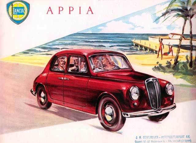 1953 lancia appia red