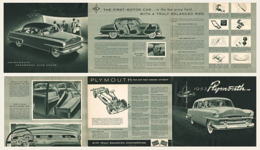 1953 Plymouth Brochure Cranbrook Cambridge C