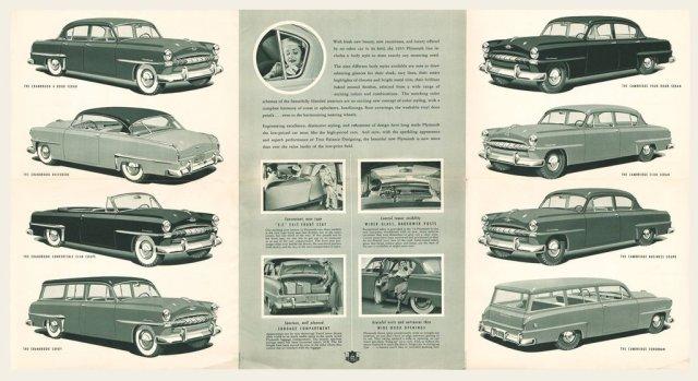 1953 Plymouth Brochure Cranbrook Cambridge Club