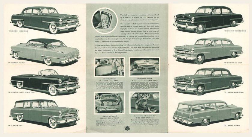 1953 Plymouth Brochure Cranbrook Cambridge Club