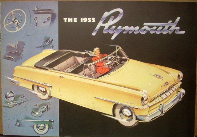 1953 Plymouth Cranbrook Cambridge Dealer Sales Brochure ORIGI