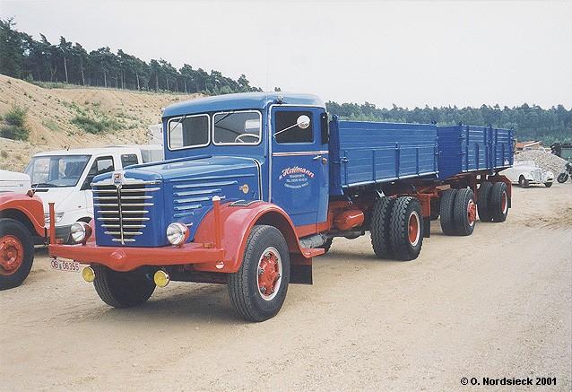1954 Büssing 7500 S Kipper-Lastzug
