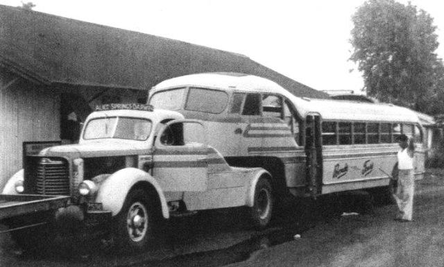 1954 International KB7 semi-trailer coach