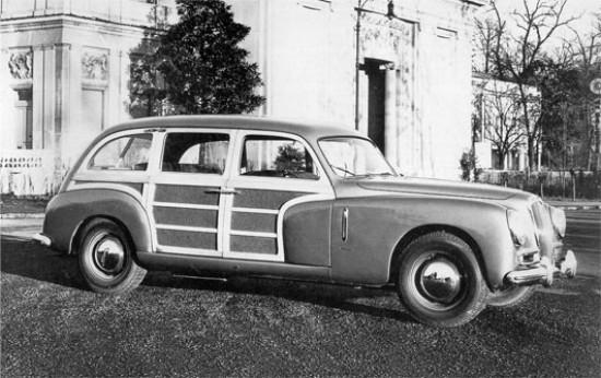1954 lancia Aurelia 'Woody' Giardinetta zagen het daglicht. Carrozzeria Viotti