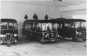 1955 Autobus Lancia Beta e coppia di autofunebri