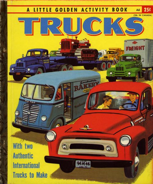 1955 Golden Book with International Trucks