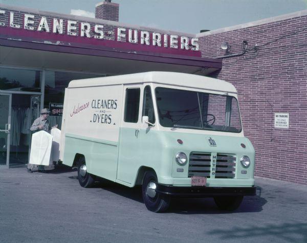1955 International Model SM Mounting Metro-Van
