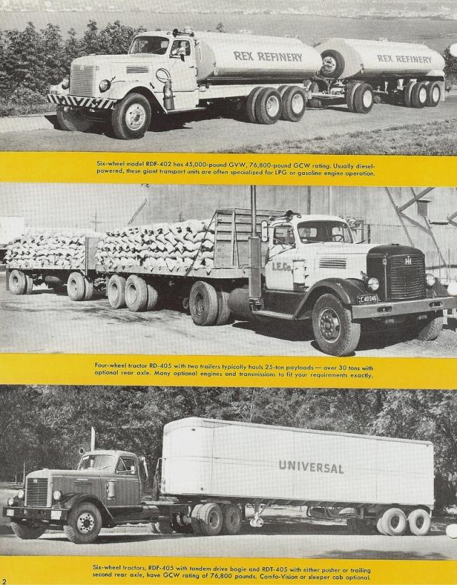 1955 International R-400 Series trucks