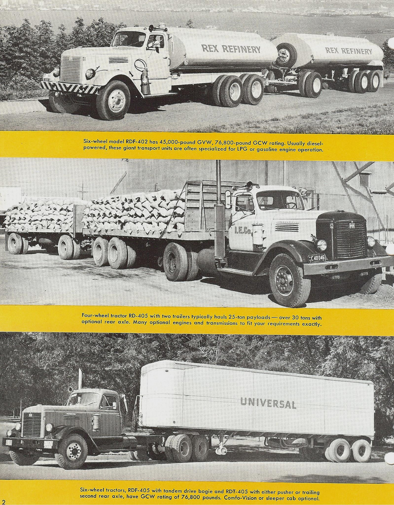 1955 International R-400 Series trucks