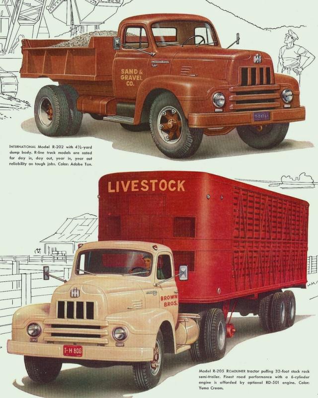 1955 International R-Series trucks