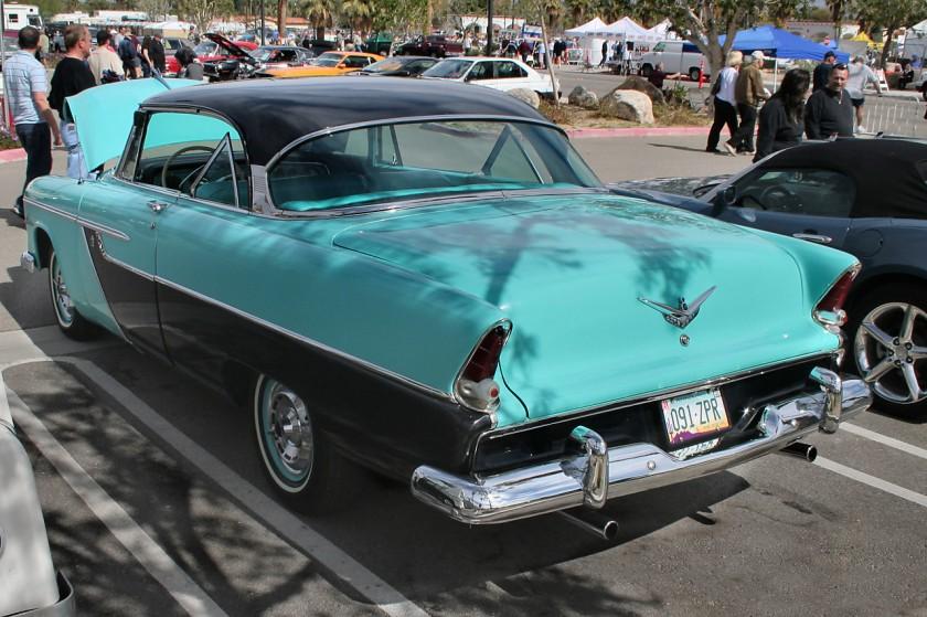 1955 Plymouth Belvedere 2d htp - aqua black - 841