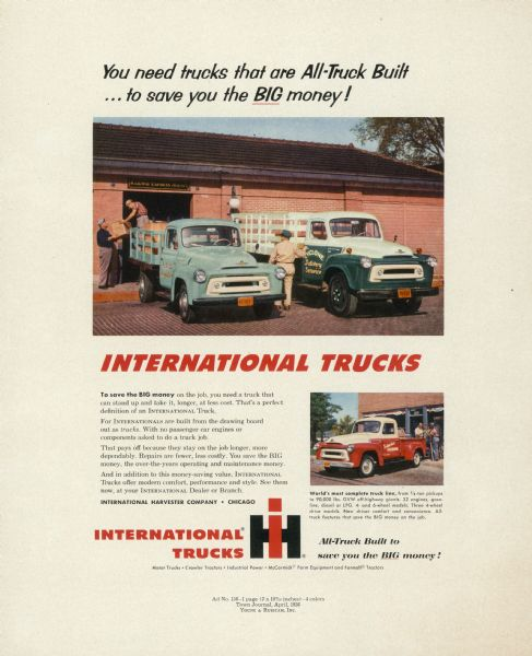 1956 International Truck Advertising Proof a