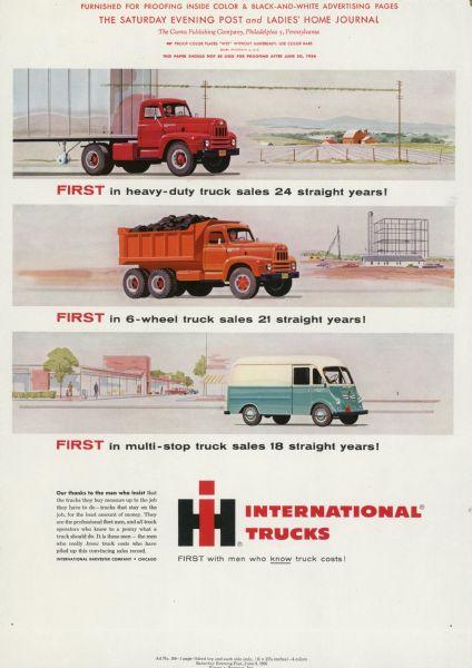 1956 International Truck Advertising Proof ad