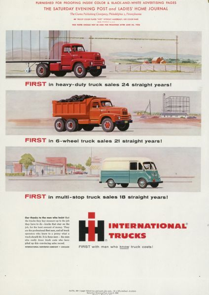 1956 International Truck Advertising Proof ad