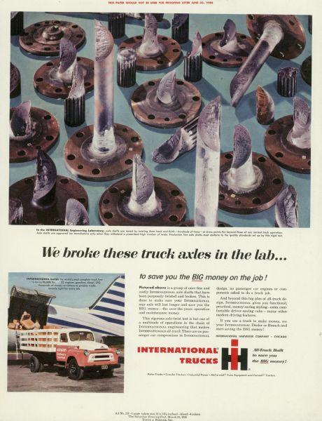 1956 International Truck Advertising Proof